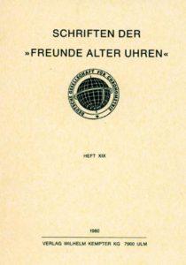 "Schriften der ""Freunde alter Uhren"""