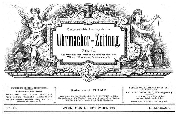 Titelseite Österreichich Ungarische Uhrenzeitung