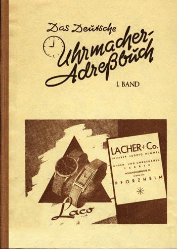 Uhrmacher Adressbuch 1949