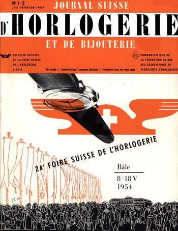 Journal Suisse d'Horlogerie 1954 Titelblatt