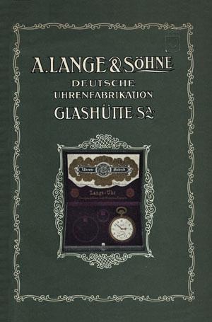 Lange & Söhne Katalog 1911