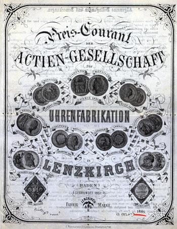 Lenzkirch 1889 Preisliste