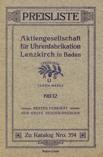 Lenzkirch 1911 Preisliste