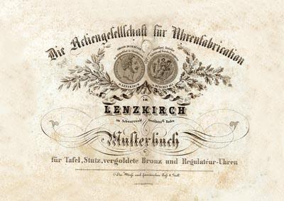 Lenzkirch 1857 Titel