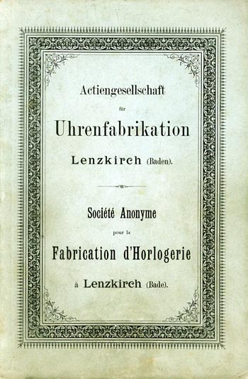 Lenzkirch 1893 Titel