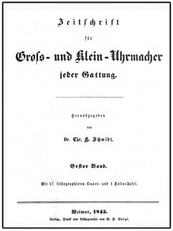 Zeitschrift für Groß- und Kleinuhrmacher Titelblatt