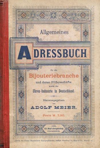 Allgemeines Adressbuch für die Bijouteriebranche