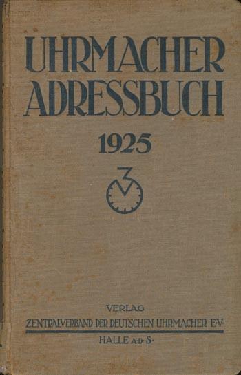 Uhrmacher Adressbuch 1925