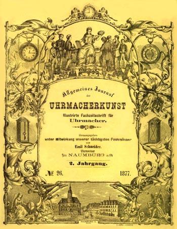 Allgemeines Journal der Uhrmacherkunst 1877 Titelblatt