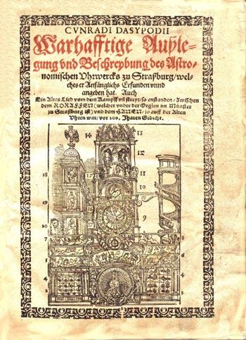 Das Astronomische Uhrwerk zu Strassburg