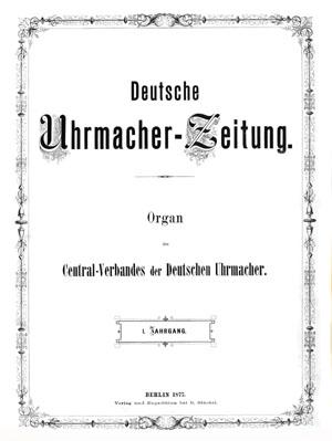 Deutsche Uhrmacherzeitung Titelblatt