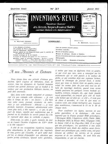 Inventions-Revue Titelblatt 1912