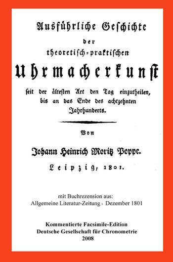 Ausführliche Geschichte der theoretisch-prakt. Uhrmacherkunst 1801
