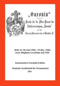 """Berichte Nr. 30 - 35 der Schülervereinigung """"Saxonia"""""""