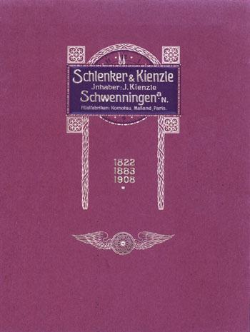 Schlenker Kienzle 1908 Jubiläumsschrift