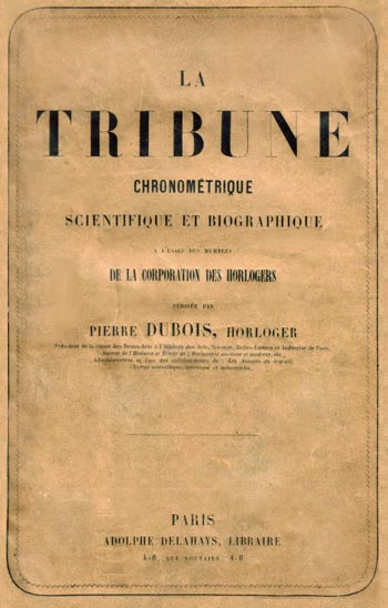 Tribune Chronometrique Titel